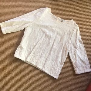 J Crew Textured 3/4 Blouse